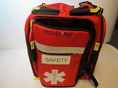 """MOBILEAID 31484 Empty Red Nylon Personal Survival Back Pack 19"""" x 16"""" x 10-1/2"""""""
