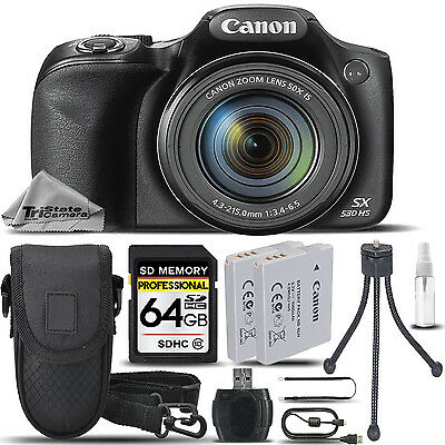 Canon PowerShot SX530 HS 16MP 50x Optical Zoom Wi-Fi/NFCDigital Camera -64GB KIT