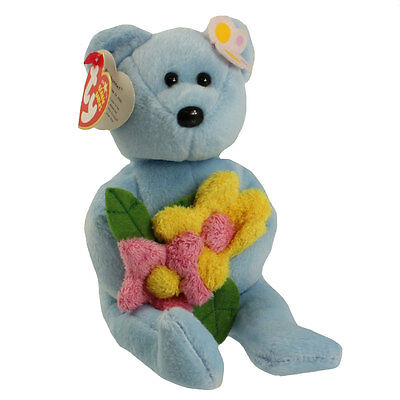 TY Beanie Baby - BLUEBONNET the Bear (8.5 inch) - MWMTs Stuffed Animal Toy