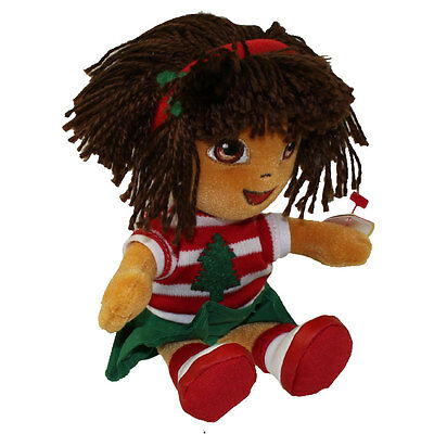 TY Beanie Baby - DORA the Explorer (Holiday Version) (7.5 inch) - MWMTs