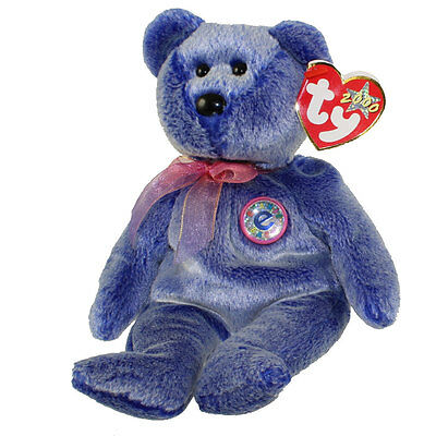 TY Beanie Baby - PERIWINKLE the e-Bear (8.5 inch) - MWMTs Stuffed Animal Toy