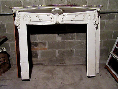 ~ Antique Carved Oak French Fireplace Mantel ~ 66 X 50 ~ Architectural Salvage
