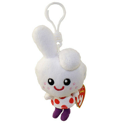 TY Beanie Baby - HONEY the Funny Bunny (Plastic Key Clip - Moshi Monster -UK Ex)