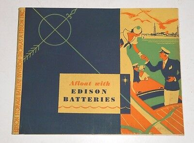Vintage 1933 Edison Battery Marine Boat Storage Battery Brochure, 24 Pgs.