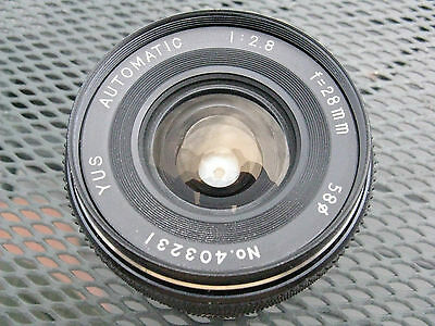 G+/Vg Yashica Contax 28mm f2.8 WIDE ANGLE PRIME LENS - made in Japan