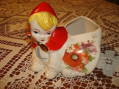 "Hull Little Red Riding Hood 4"" Crawling Shape Sugar Bowl 1943 - 1957"