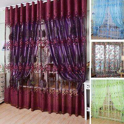 THERMAL BLACKOUT/ VOILE CURTAINS Eyelet Ring Top OR Pencil Pleat FREE Tie backs