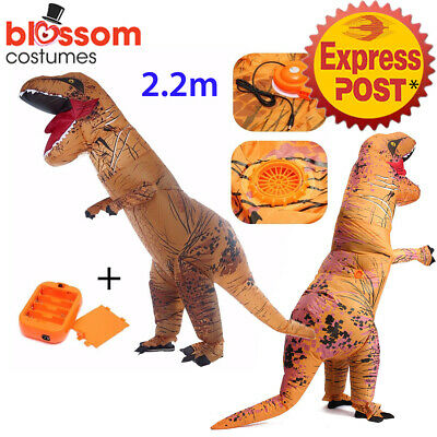 K344 Inflatable Dinosaur Costume Adult Jurassic World Park Trex T-Rex T rex Blow