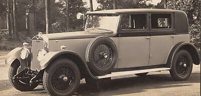 Lanchaster 1930 Weymann Bodied Four Door Saloon, Photograph.