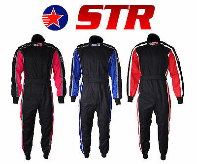 STR Evo Start Race Suit Single Layer SFI Approved 3.2A/1 and Proban Treated Oval