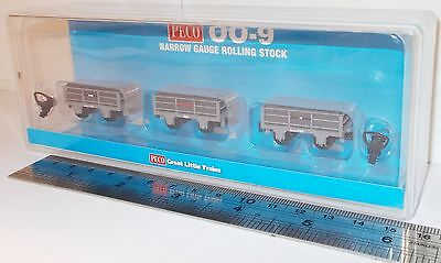 Peco GR-320 - 2 Ton Slate Wagons x 3 - (All Unbraked)           New      (009)