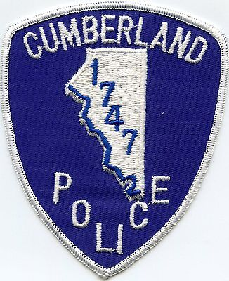 old vintage CUMBERLAND RHODE ISLAND RI POLICE PATCH