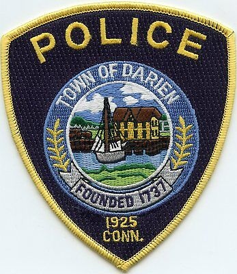 Darien Connecticut Ct Police Patch