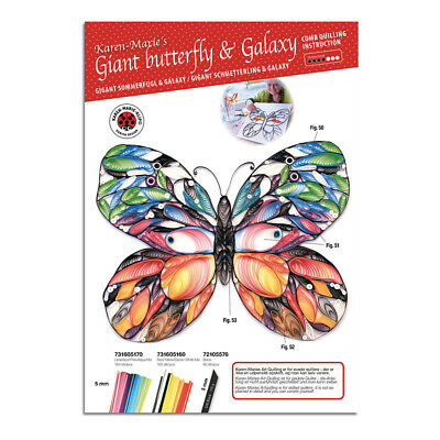 Karen Marie Klip: Giant Butterfly & Galaxy Comb, Quilling Instruction