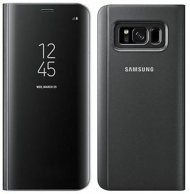Genuine Samsung Galaxy S8+ Plus Clear View Standing Cover Flip Case Wallet Black