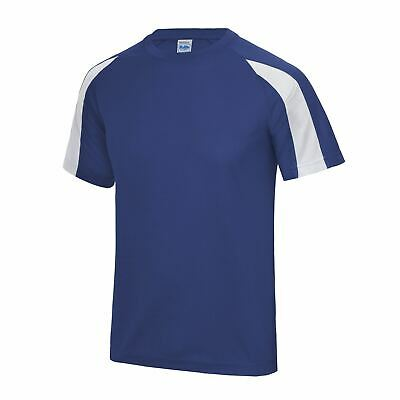 AWDis Mens Contrast Just Cool Short Sleeve Running Breathable T Shirt JC003