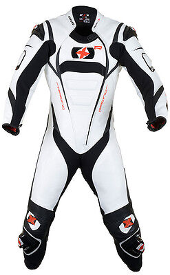 Oxford RP-1 1pc Leather Race Suit (Wh/Blk) WAS £499.99 ***Now Only £270.00***