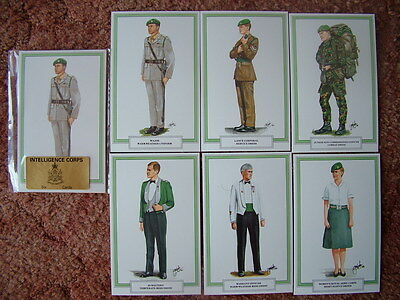 Postcards - INTELLIGENCE CORPS.  6 card set.  Mint Condition.