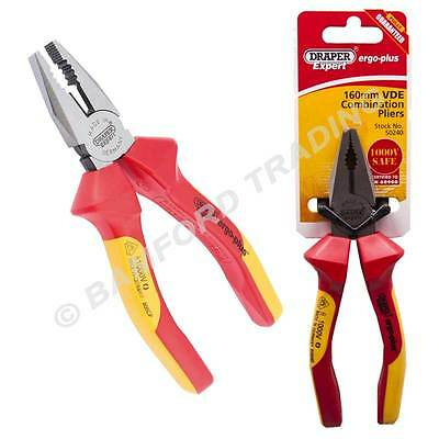 Draper Expert 160mm Ergo Plus Electricians Fully Insulated VDE Combination Plier