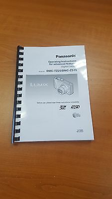 Panasonic Tz25 Digital Camera Printed Instruction Manual User Guide 141 Pages A5