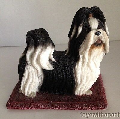 "SHIH TZU Resin Figurine Willits Dog Black & White 4"" Figure"
