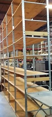 Store Display Fixtures 5 SECTIONS HEAVY DUTY LOZIER SHELVING 20' Run 10' Tall