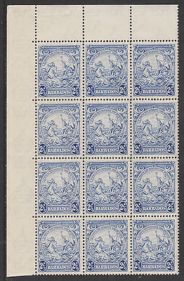 Barbados 3388 - 1938 Badge of Colony2.5d  LISTED VARIETY x 3 unmounted mint