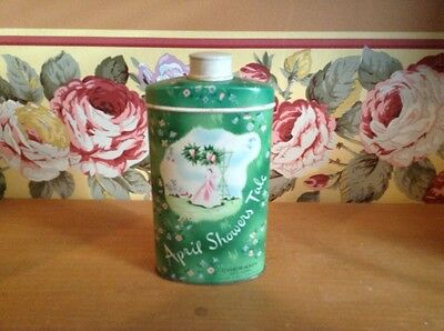 Vintage Cheramy New York April Showers talc tin with contents