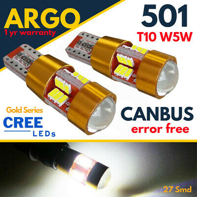 X2 T10 27 Smd Led Canbus Error Free Large Sidelights Xenon White Ultra Bright