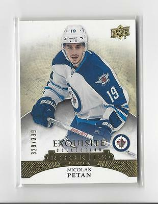 2015-16 Exquisite Collection #R24 Nicolas Petan RC Rookie Jets /399