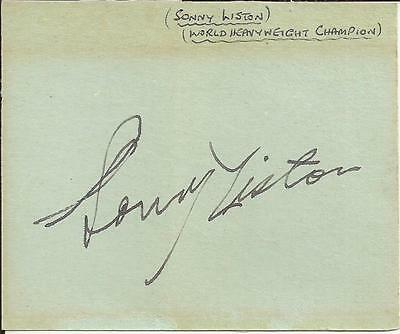 daf6d482a77 Sonny Liston Rare Autograph Signed In-Person In The Uk In 1963 When Champion
