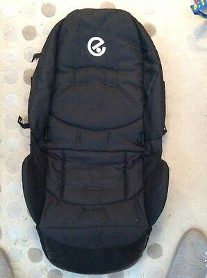 BABYSTYLE  OYSTER 1 seat pad cover Liner Fabric seat unit black excellent spare