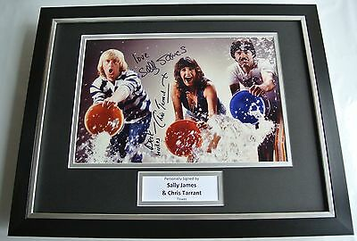 Chris Tarrant & Sally James SIGNED FRAMED Photo Autograph 16x12 display Tiswas