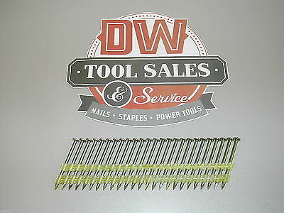 """6d 2"""" Inch 21 Degree Full Round Head Nails (3,000) Plastic Collated"""