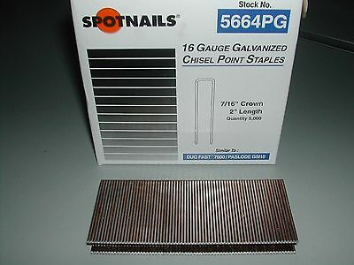 "Spotnails  7/16"" Crown 2"" 16 Gauge Paslode GSI16, DuoFast 7600 Series Staples"