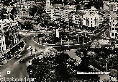 Bournemouth, The Square, b+w RP postcard, unposted