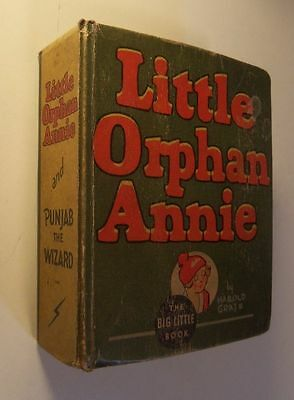 1935 LITTLE ORPHAN ANNIE & Punjab The Wizard BIG LITTLE BOOK