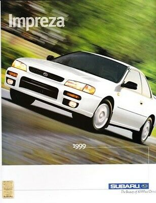 1999 99 Subaru Impreza original sales brochure MINT
