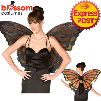 AC70 Adult Ladies Monarch Butterfly Costume Angel Fairy Large Wings Nymph Pixie