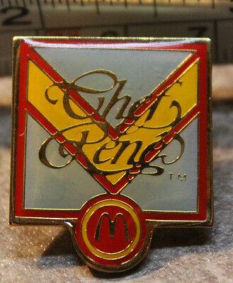 McDonalds Chef Rene French 1986 Employee Collectible Pinback Pin Button