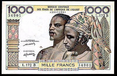 Benin, 1,000 Francs, 428534901,  (1977), Good Very Fine.