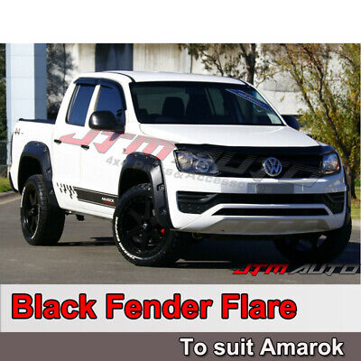 VW Volkswagen Amarok Matt Black Fender Flares Wheel Arch Pocket Style 2010-2017