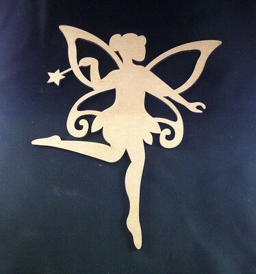 1 x  DIY Wooden Fairy- Wood Shape Fairy - 23cm x 19xm
