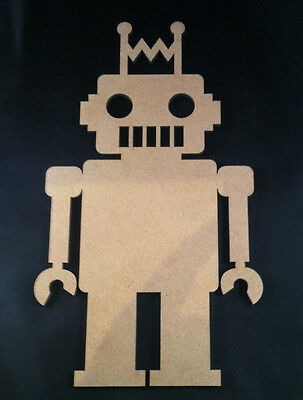 1 x  DIY Wooden Robot - Wood Shape Robot - 22cm x 12cm