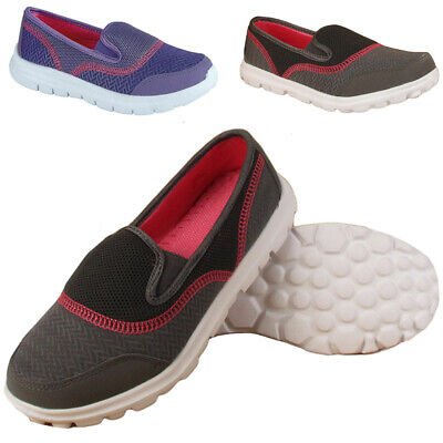 Womens Airtech Mesh Ladies Trainer Casual Sports Outdoor Slip On Shoes Uk 3-8