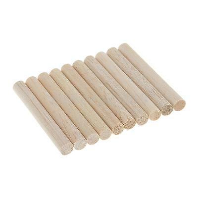 10 Balsa Wood Model DIY Finishing Unfinished Wood Craft Sticks Strip Dowel Rod
