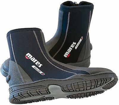 Mares Flexa DS - 5mm Neoprene Scuba Dive Boots with Ankle Zip and Special Sole