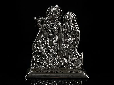 A Finely Detailed Indian Silver Figure Group - Krishna & Radha.