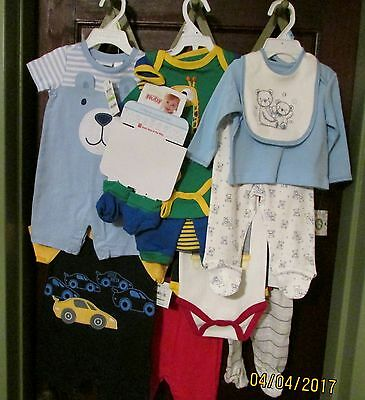 Baby Boy 17 Pc  Clothing Lot Spring/Summer 3-6 Mos - New With Tags