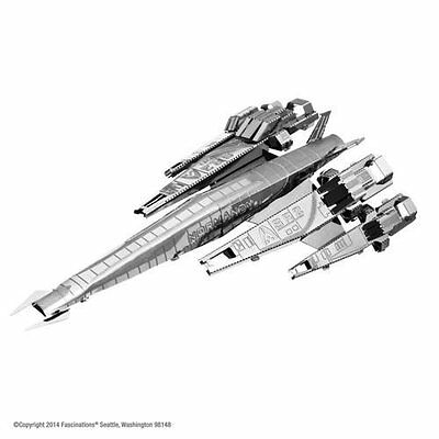 SR2 Normandy Mass Effect: Metal Earth 3D Laser Cut  Miniature Model Kit 1 sheet